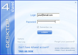 Login window